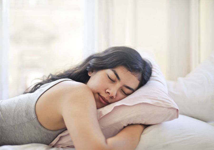 Woman Sleeping on Stomach