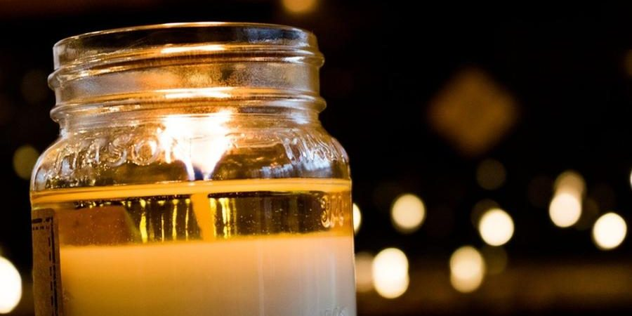 Candle in Glass Jar